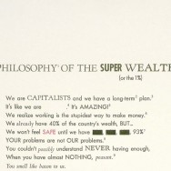 William Powhida, A Philosophy of the Super Wealthy