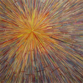 "David Poppie, big bang, 60"" x 60"", colored pencils, 2009; photo: john polak"