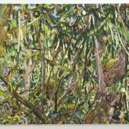 "Lilian Garcia-Roig, ""Webbed Woods"", oil on canvas, 3'x4', 2009"