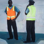 Paul Anthony Smith, Tarmac #1, 2011 Oil on Canvas, 72 x 60x 1.75 Inches. image Courtesy of E.G. Schempf.