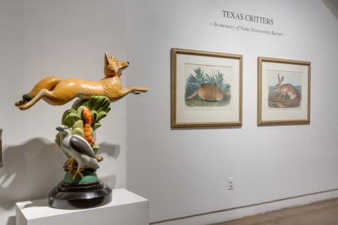 Texas Critters, a group exhibition featuring Texas art icons from the 1930's to the present 9/6/14 – 10/25/14