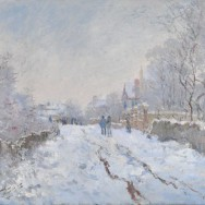 Claude Monet-Snow Scene at Argenteuil-1875- 71.1 x 91.4 cm-National Gallery (Wikimedia)
