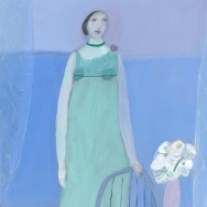 Joy Laville Girl Standing Wearing a Green Dress 2008 (web)